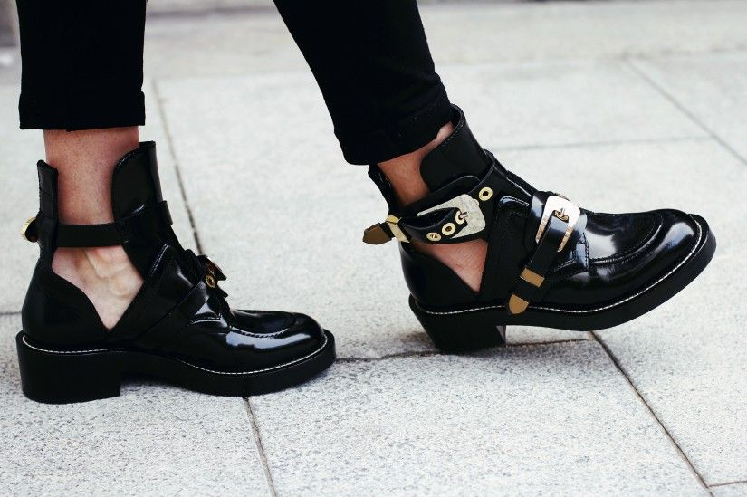 balenciaga cut out boots