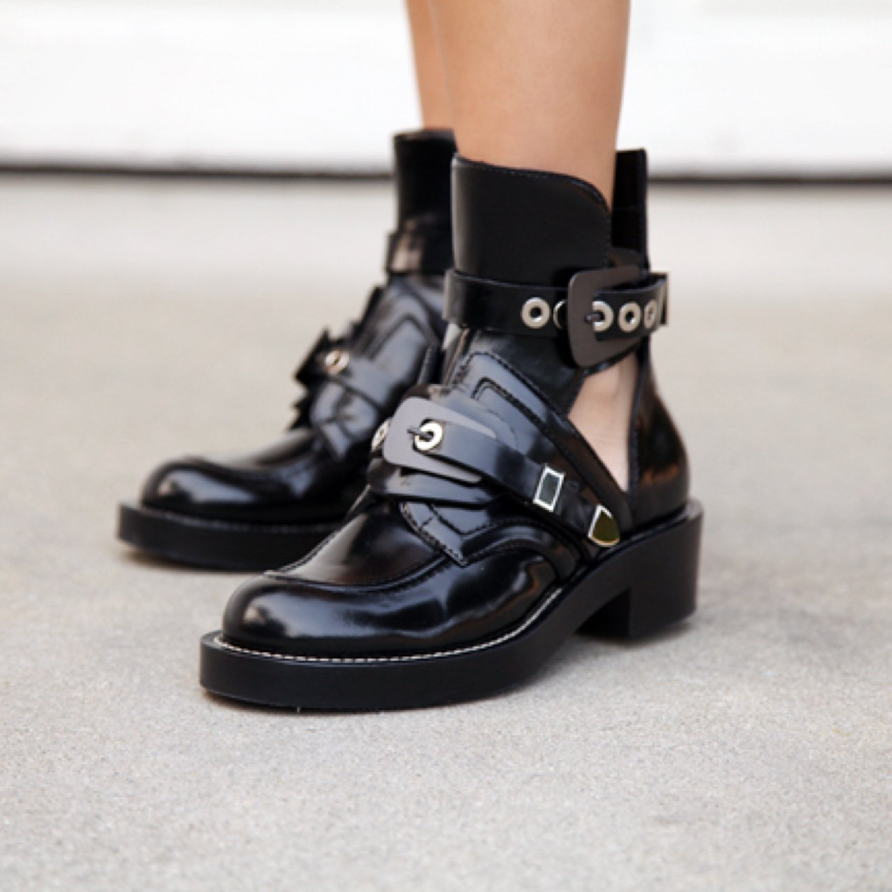 balenciaga boots cut out